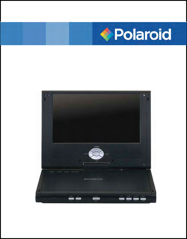 polaroid portable dvd player pdm 0742 user guide manualsonline com rh portablemedia manualsonline com Polaroid Portable DVD Player PDM-0711 Lens 15' Portable DVD Player