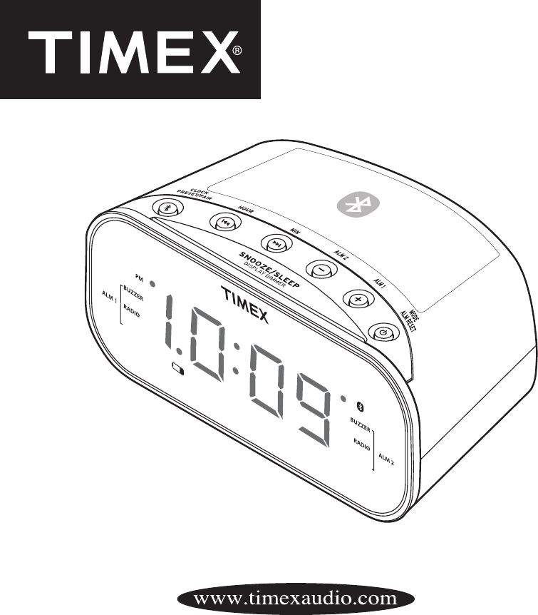Timex Clock Radio T331 User Guide Manualsonline