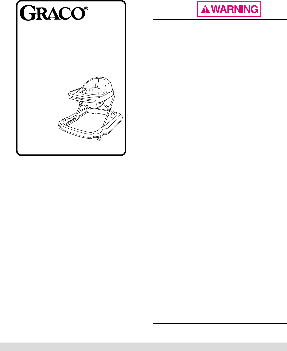 graco baby walker instructions