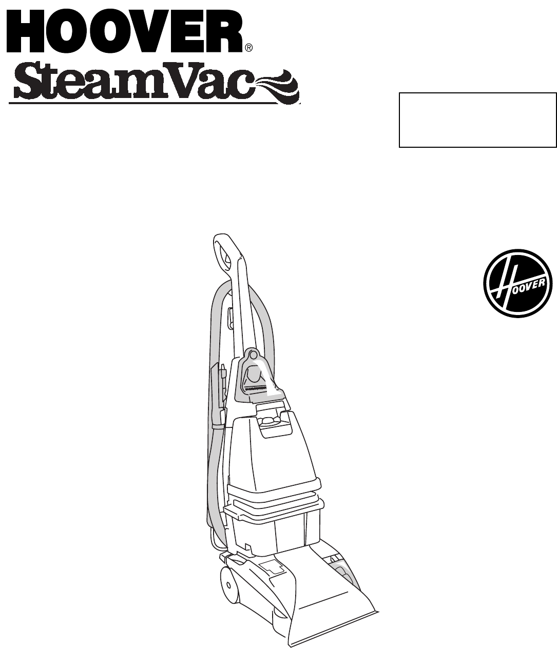hoover steamvac instructions for use