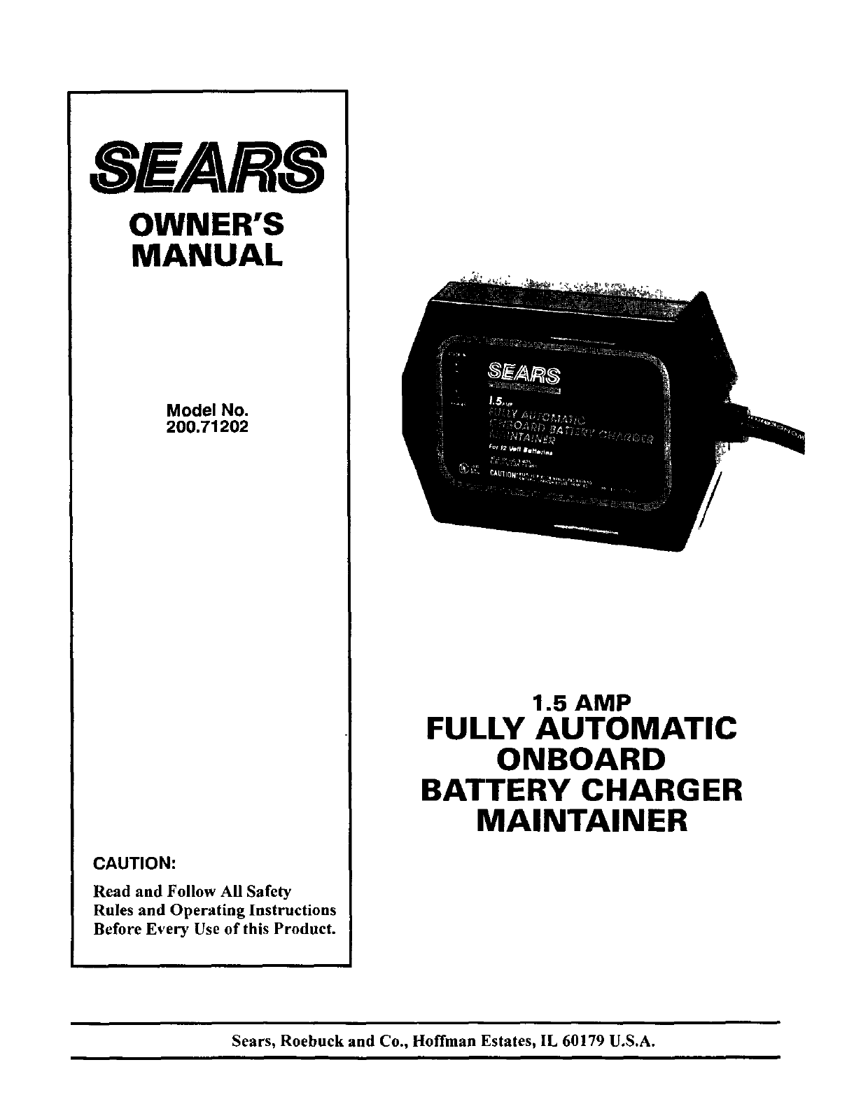 sears battery charger user manual manualsonline com sears manual battery charger engine starter sears 10/2 manual battery charger