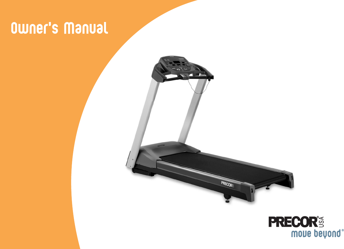precor treadmill 9 21 user guide manualsonline com 9 21