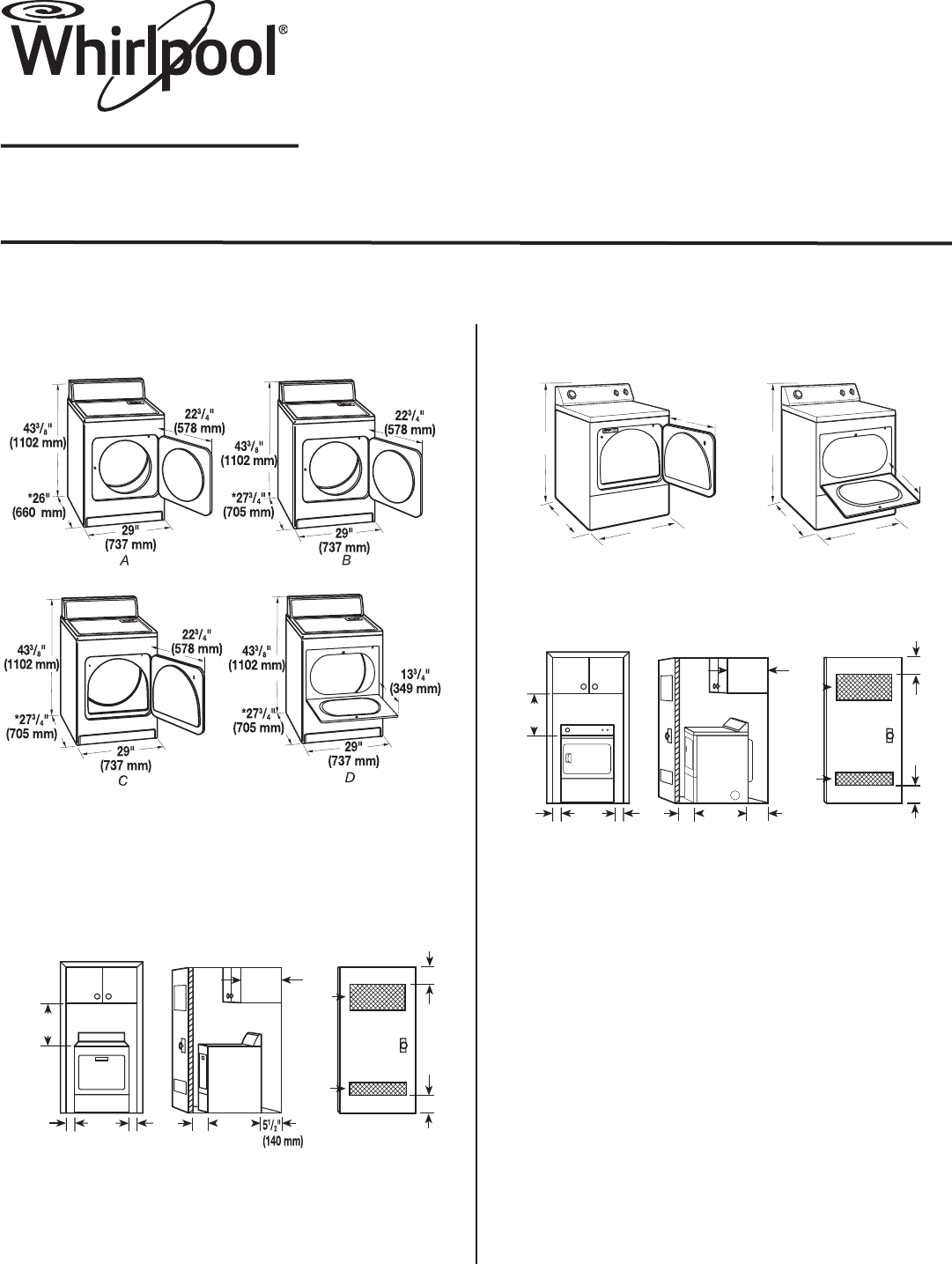 whirlpool washer and dryer manual