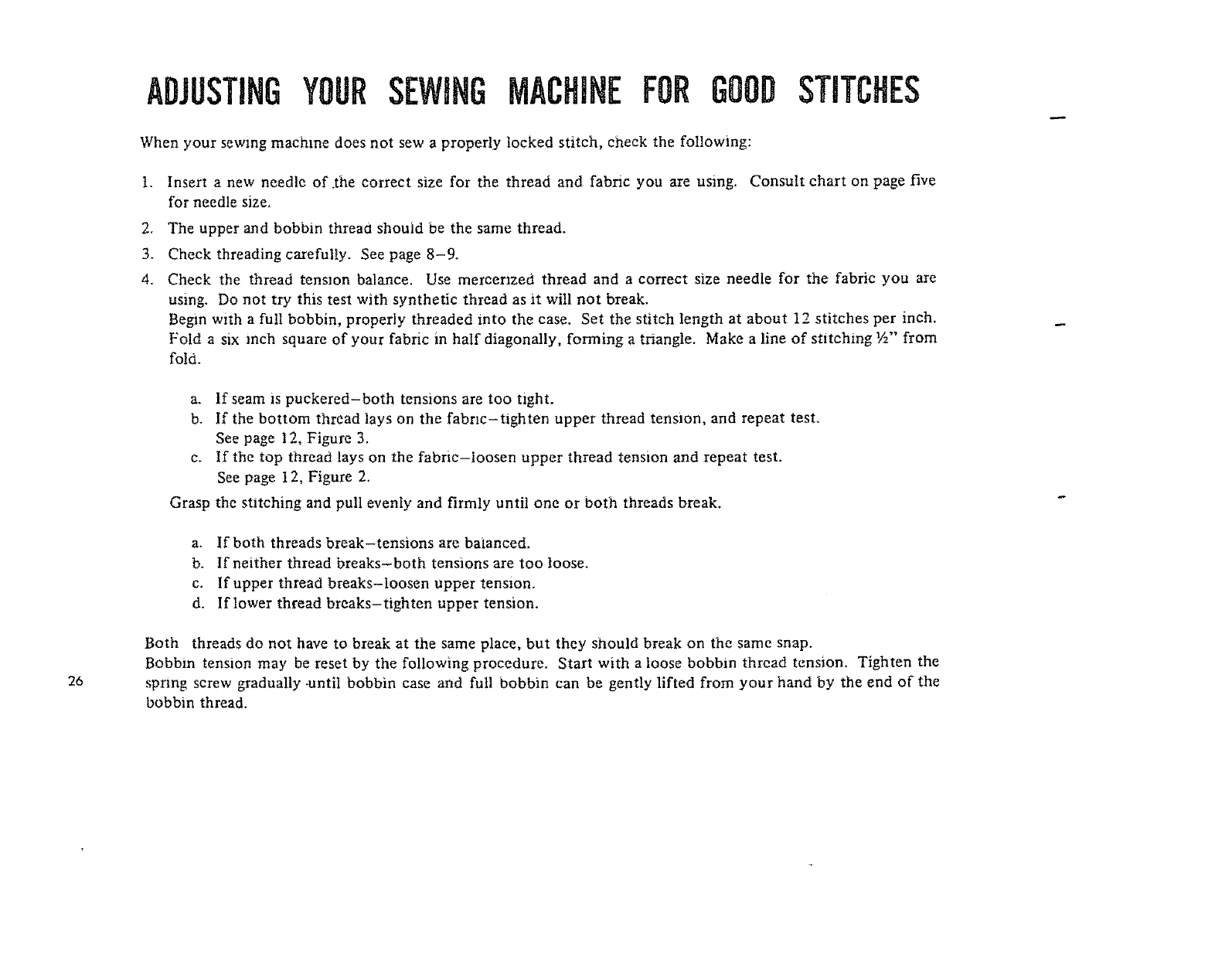 Page 27 Of Kenmore Sewing Machine 1206 User Guide Manualsonlinecom Threadingdiagrams Threadingpages Kenmoresewingmachinethreading Adjustingyoursewingmachiheforgood