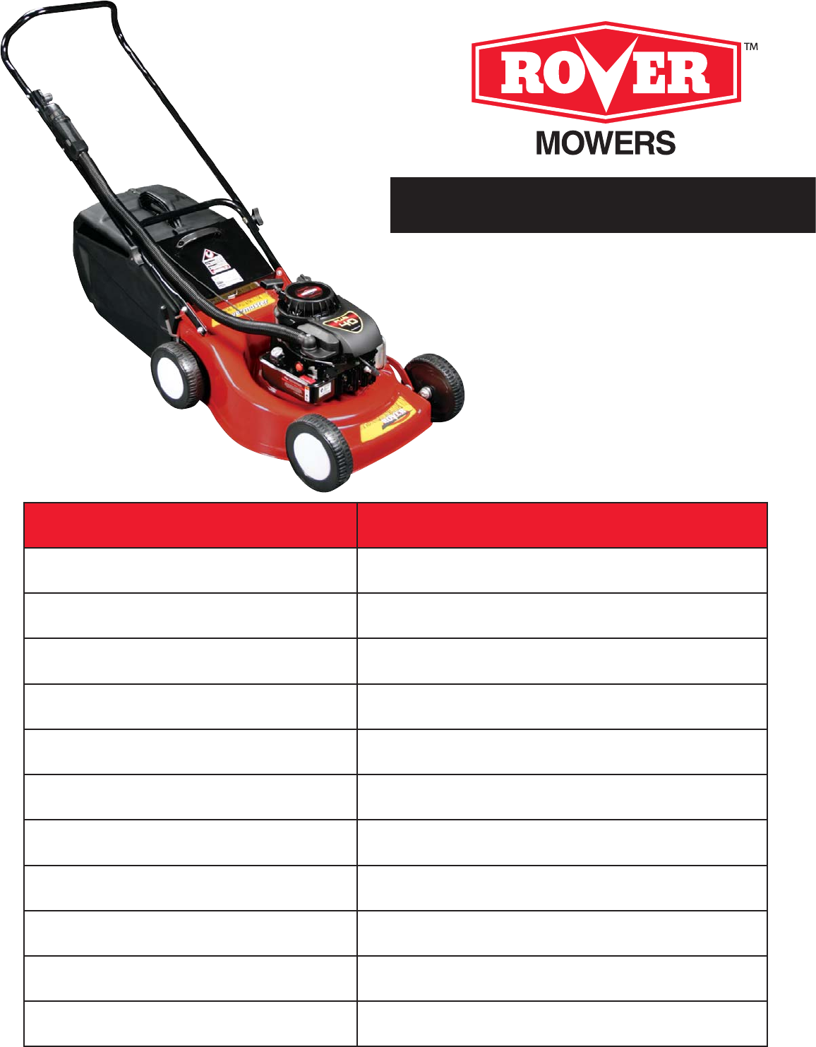 rover lawn mower 11029s user guide manualsonline com rh lawnandgarden manualsonline com rover suzuki lawn mower manual rover easystart lawn mower manual