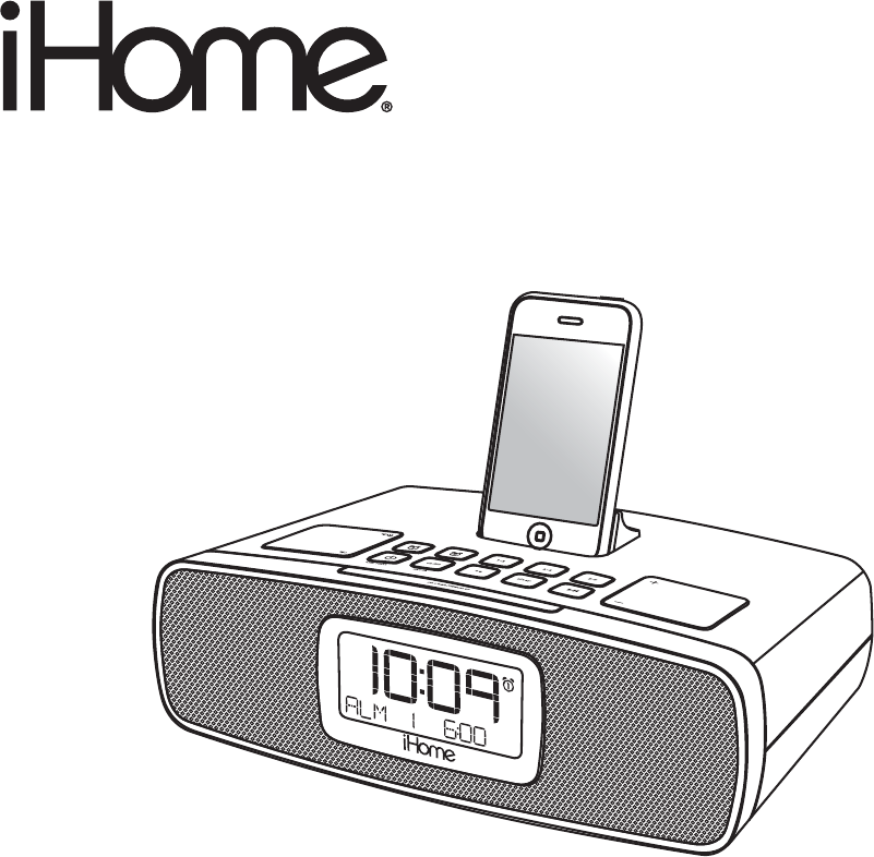how to set the clock on ihome radio