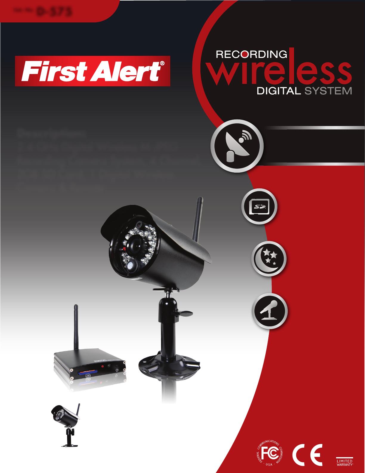 first alert home security system d575 user guide. Black Bedroom Furniture Sets. Home Design Ideas