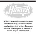 hunter fan thermostat 40170 user guide manualsonline com page 7