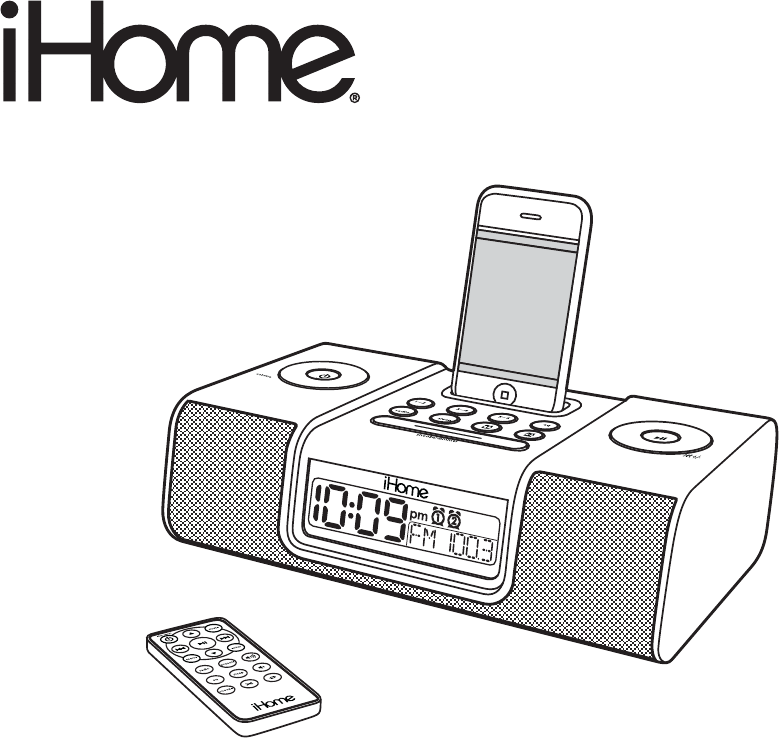 ihome mp3 docking station ip9 user guide manualsonline com rh portablemedia manualsonline com iHome for iPhone 5 Dock Pink iHome for iPod