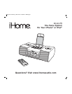 instruction manual for ihome clock radio