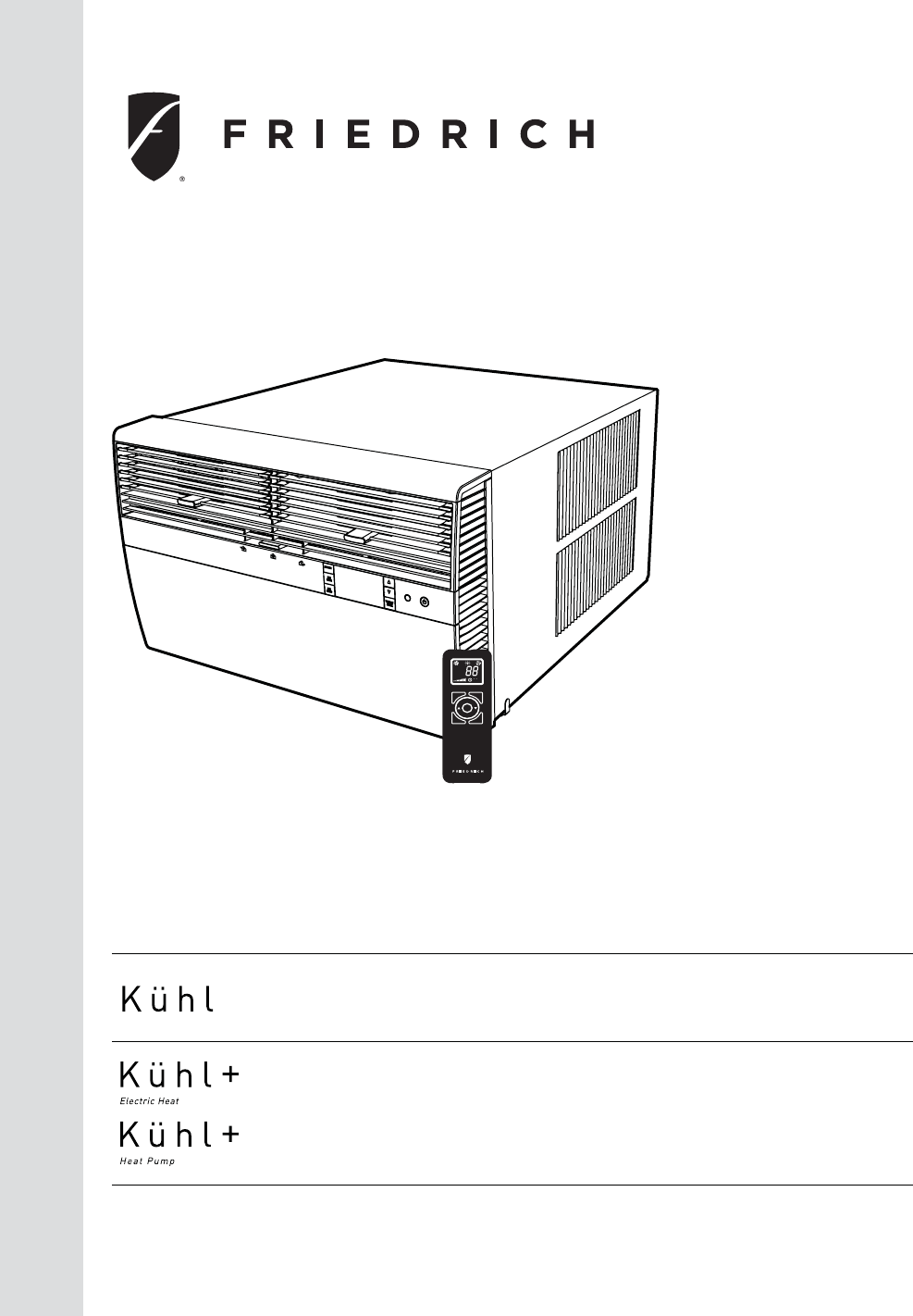 Page 8 of friedrich air conditioner bro412w1a user guide.