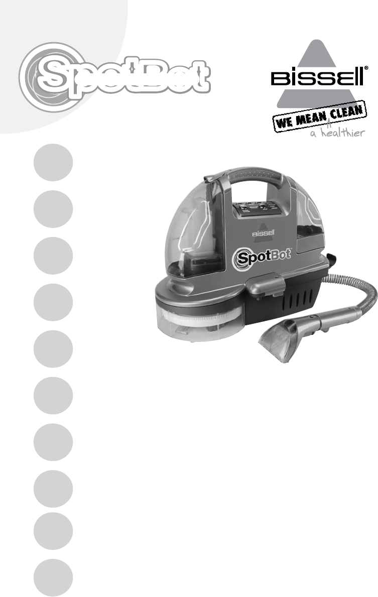 bissell lift off deep cleaner manual