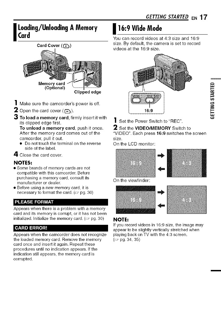 Page 17 of JVC Digital Camera GR-D775U User Guide
