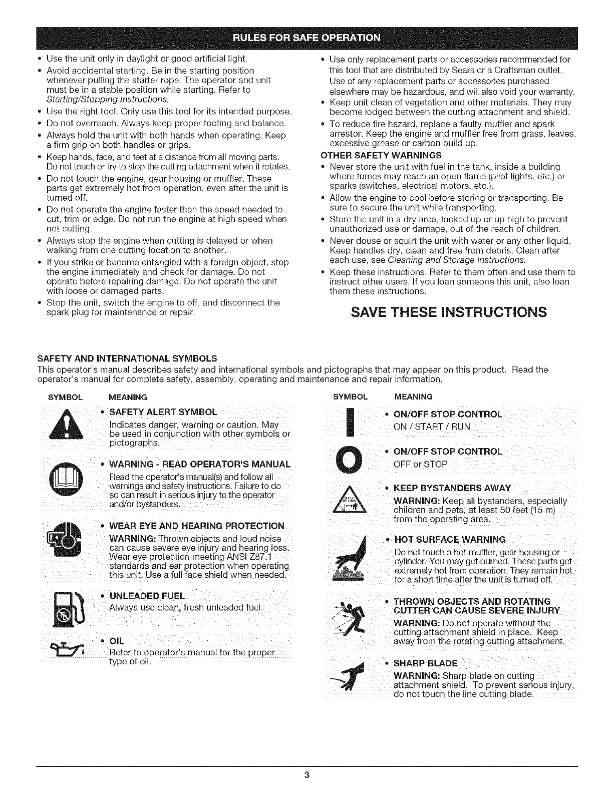 Page 3 of craftsman trimmer 31679194 user guide manualsonline usetheunitonlyindaylightorgoodartificiallight useonlyreplacementpartsoraccessoriesrecommendedfor biocorpaavc Images