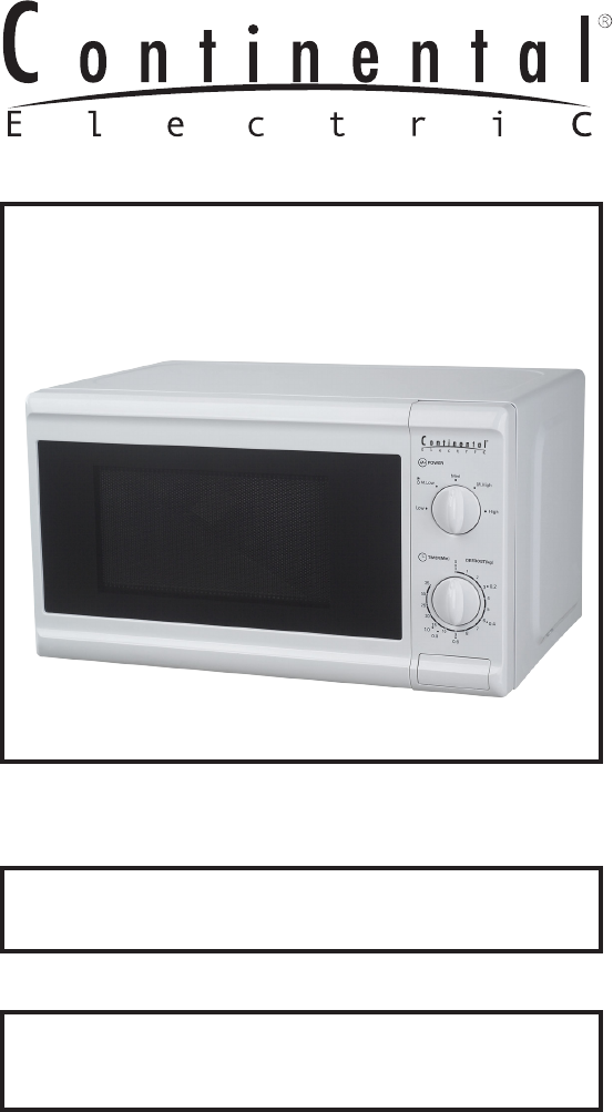 Microwave Oven Ce21061 User Guide