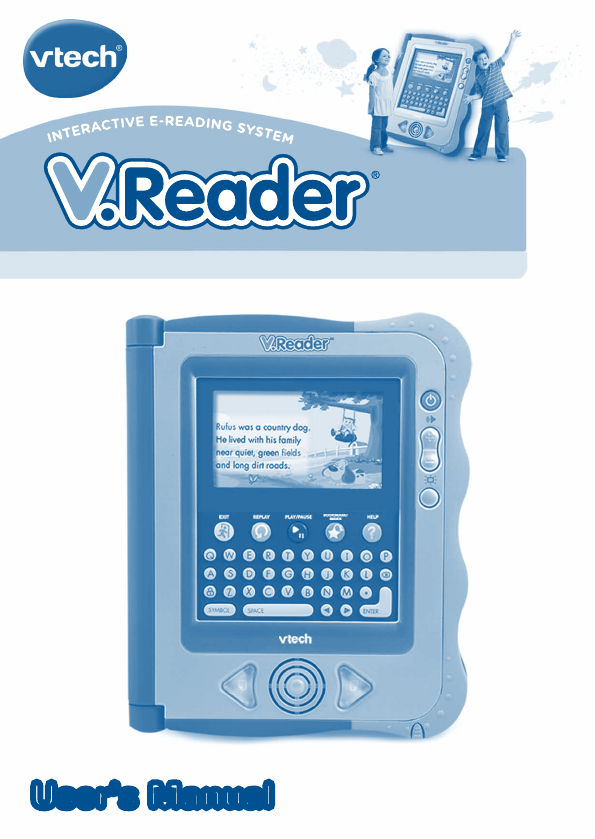 vtech ebook reader 80 115610 user guide manualsonline com rh office manualsonline com V.Reader VTech Box VTech V.Reader Case