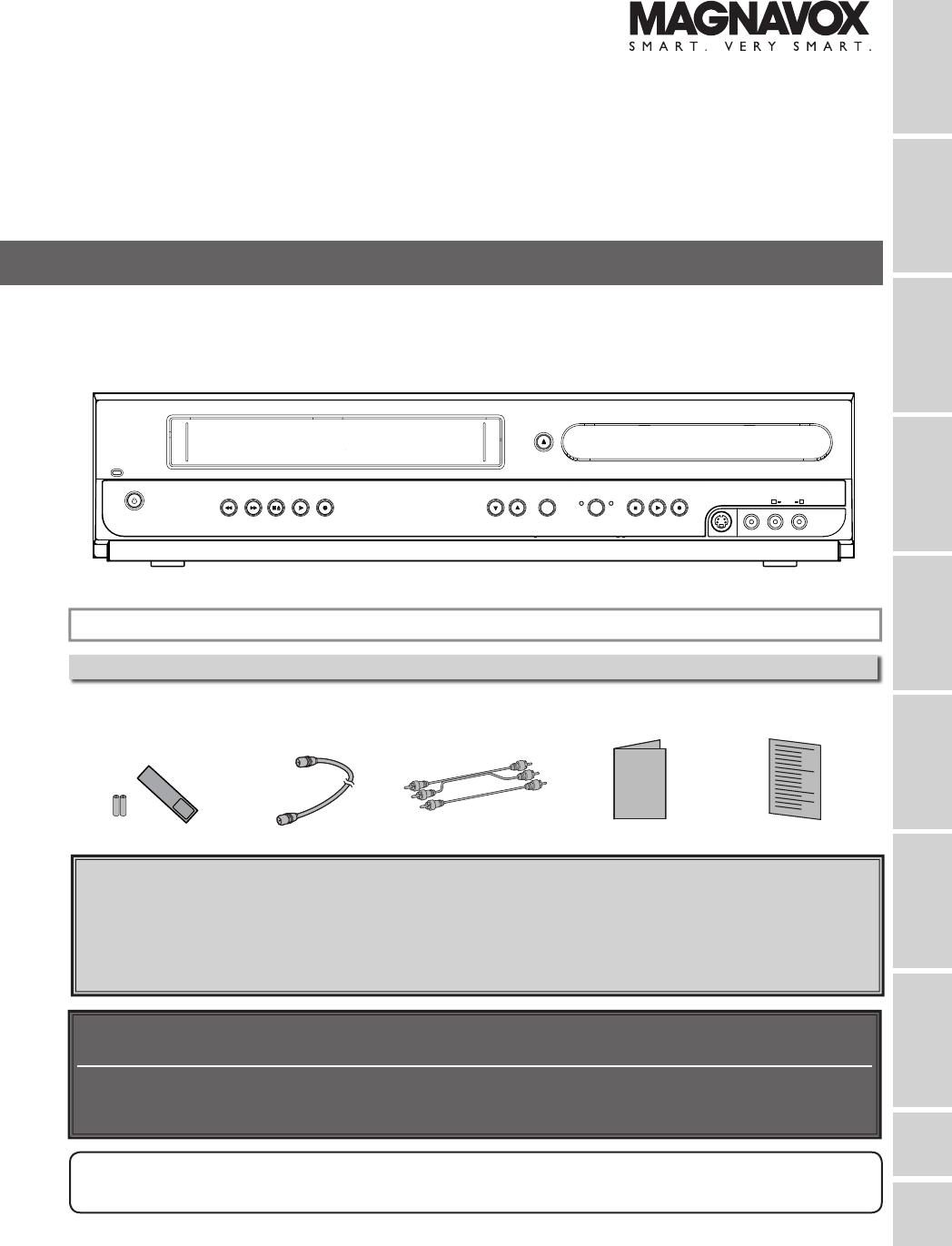 magnavox dvd vcr combo mwr20v6 user guide manualsonline com Magnavox DVD VCR DV220MW9 Manual DVD Manual Recorder Magnavox D2563324.9A
