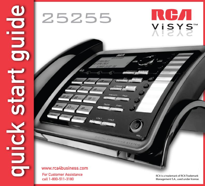 rca telephone 25255 user guide manualsonline com rh phone manualsonline com rca visys phone system manual RCA ViSYS Phone Manual