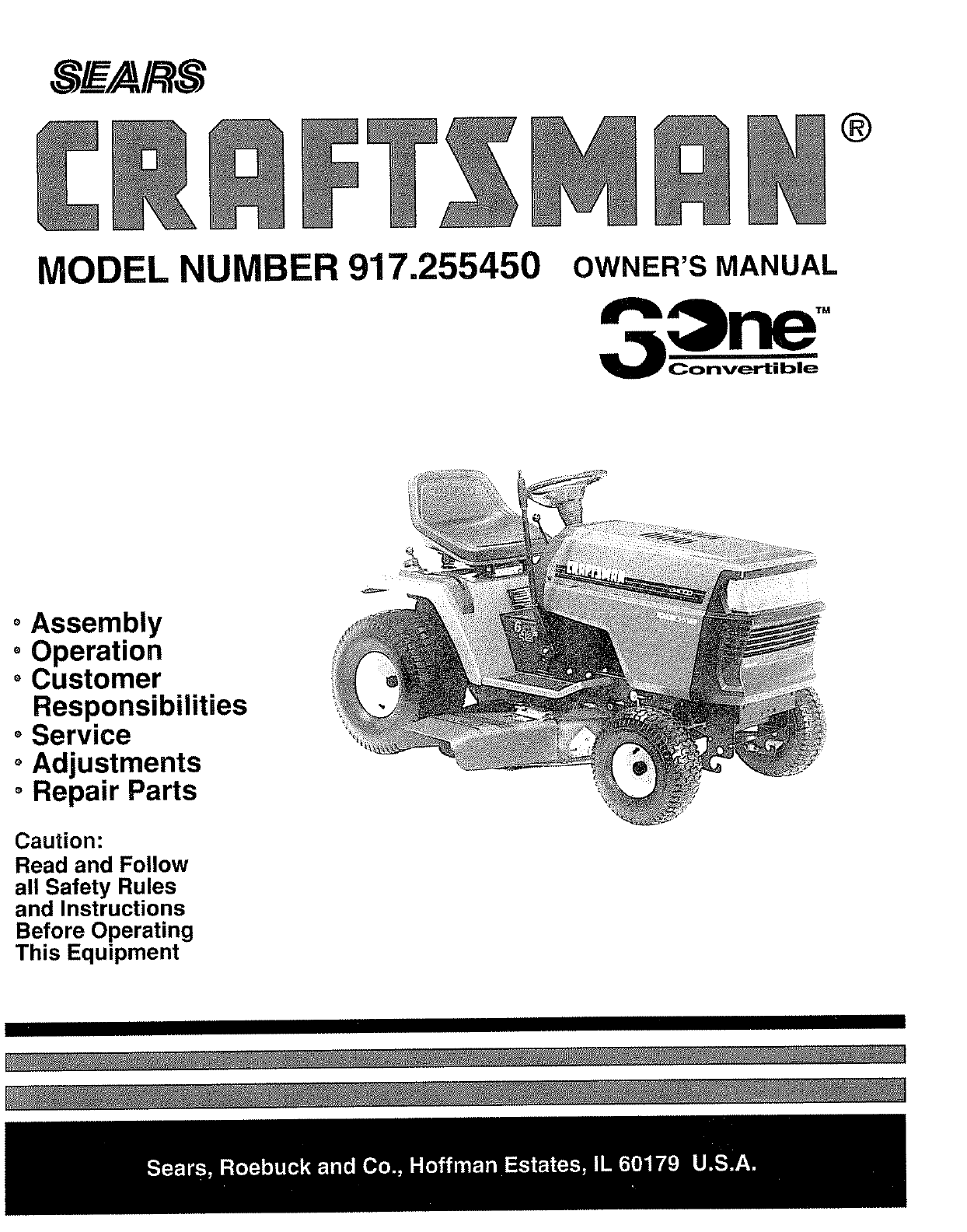 Sears lawn mower 91725545 user guide manualsonline fandeluxe Images