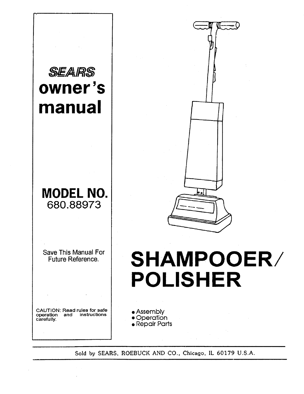 sears carpet cleaner 680 88973 user guide manualsonline com rh homeappliance manualsonline com Kenmore Accela Carpet Cleaner Kenmore Accela Carpet Cleaner