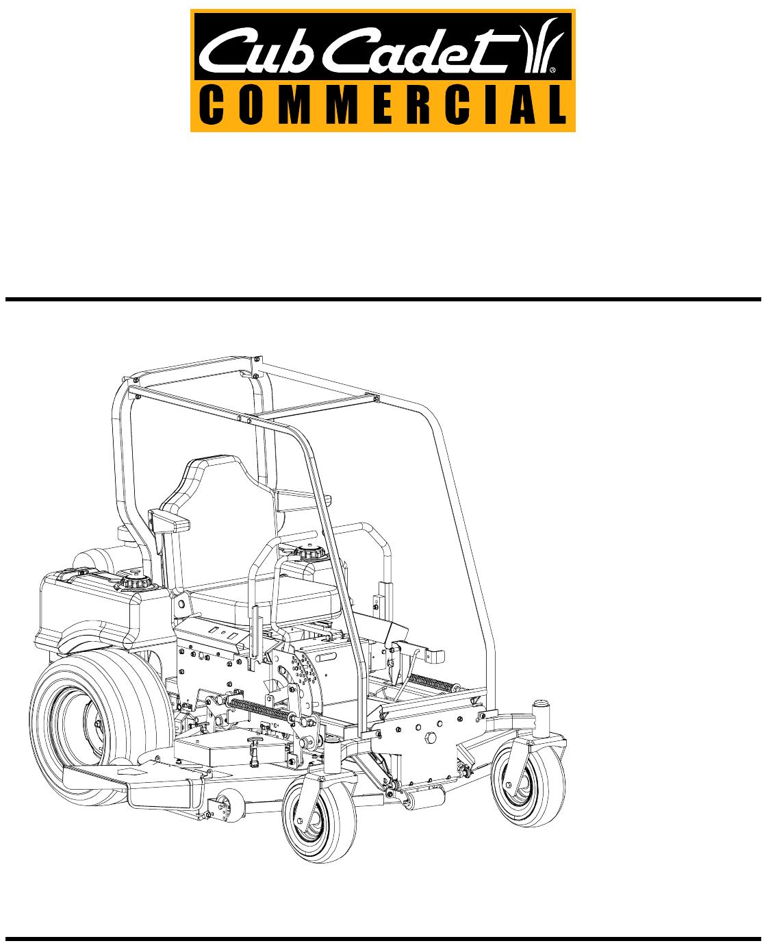 cub cadet zero turn mower manual
