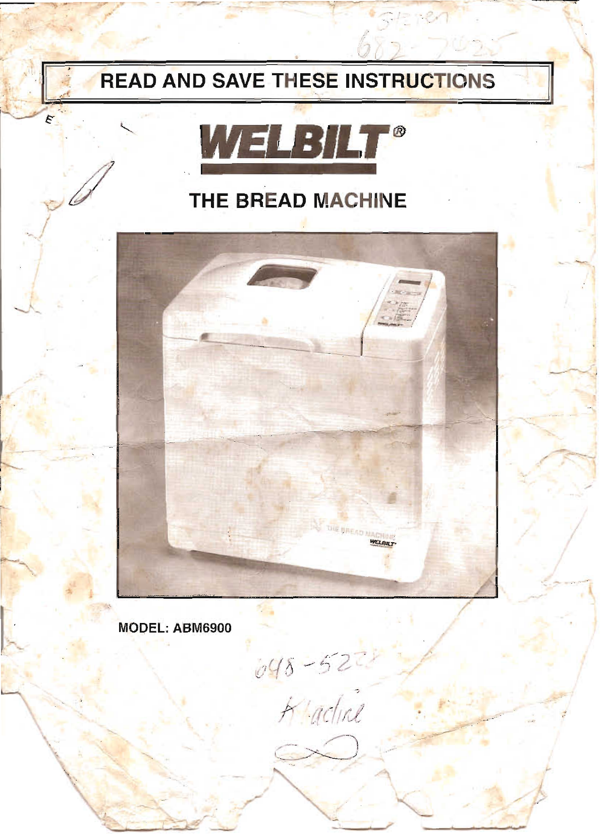 welbilt bread maker abm6900 user guide manualsonline com rh kitchen manualsonline com Wel-Bilt ABM4100T Parts Bread Machine Welbilt ABM 8200 Manual