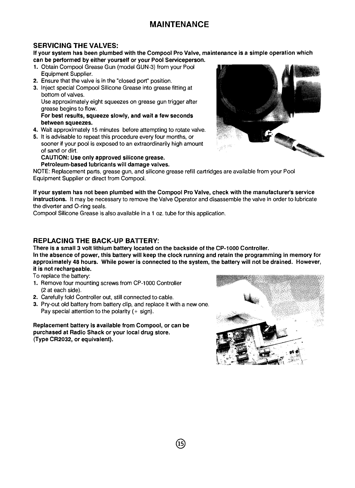page 15 of pentair universal remote cp 1000 user guide rh tv manualsonline com Pentair Pool Filters Pentair Electronics