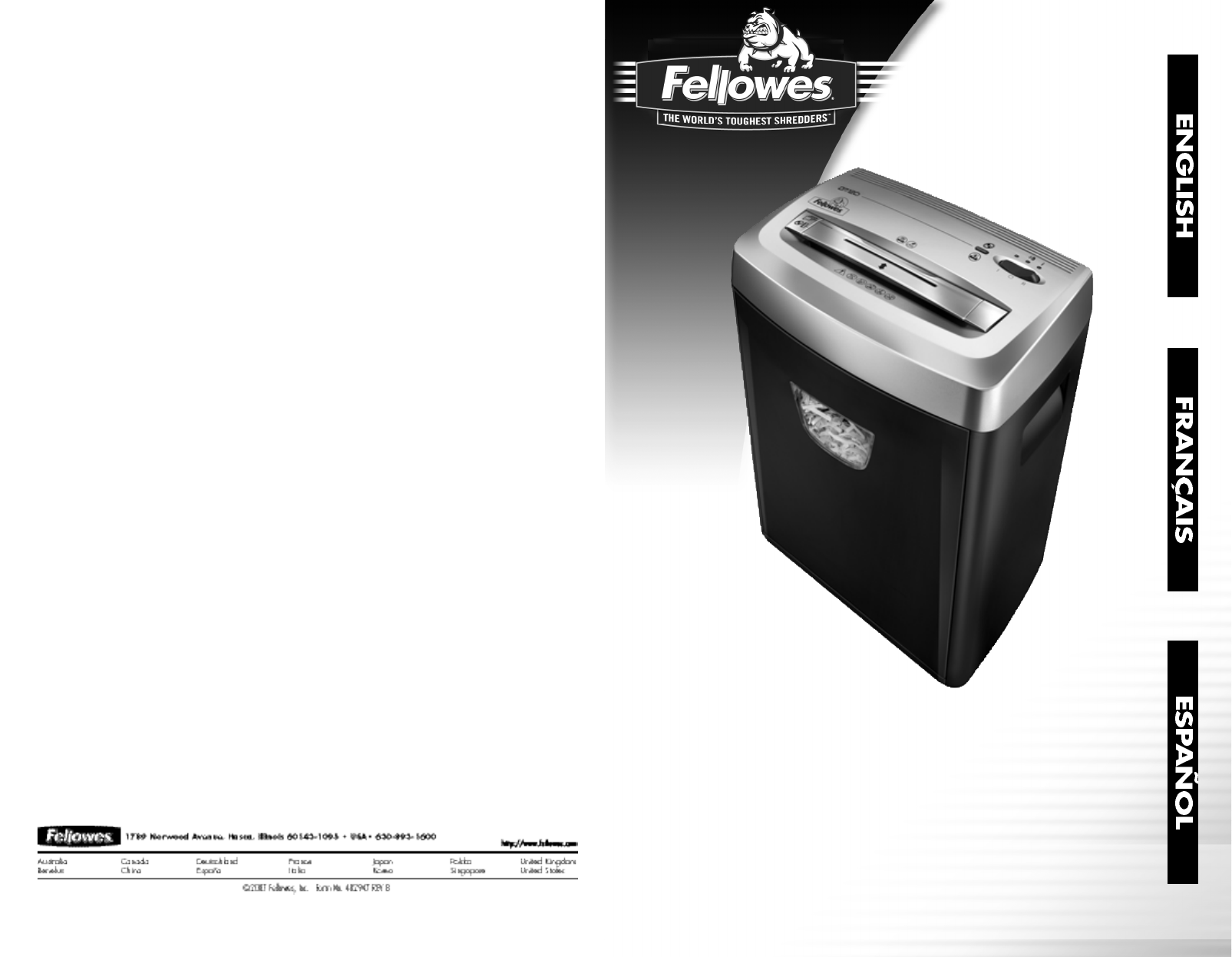 Dm12ct cross-cut shredder manual