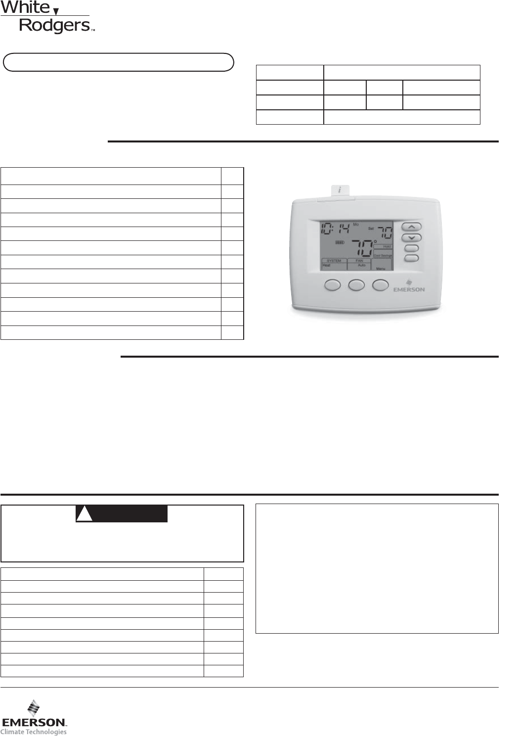 white rodgers thermostat 1f85 0471 user guide manualsonline com rh kitchen manualsonline com White Rodgers Logo White Rodgers Thermostat Manuals 1F78