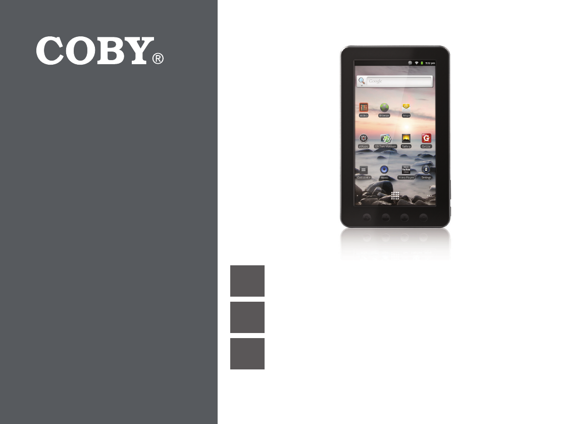 coby electronic tablet mid7012 user guide manualsonline com rh office manualsonline com Coby Kyros MID7024 Manual Coby Kyros MID7015 Charger