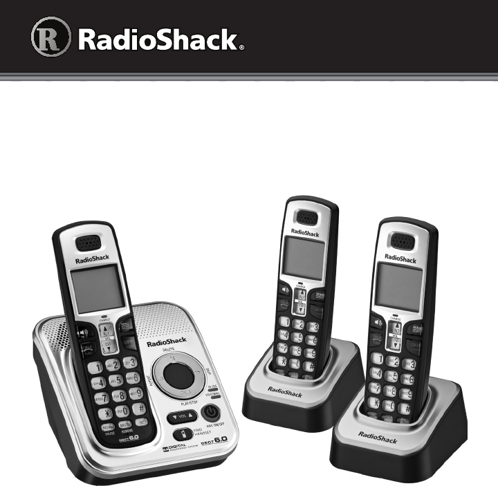Radio Shack Cordless Telephone 43-327 User Guide | ManualsOnline.com