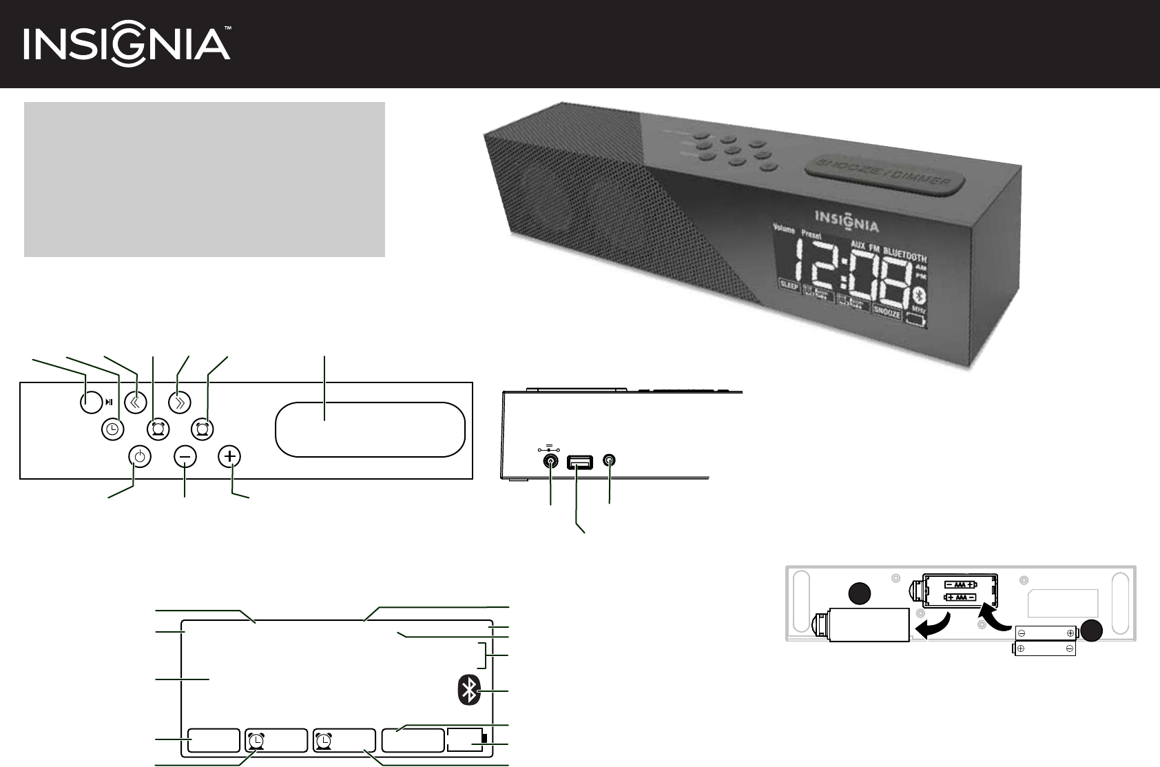 insignia clock radio ns clbt01 user guide manualsonline com rh portablemedia manualsonline com owners manual for insignia tv 32 Inch Insignia TV Manual