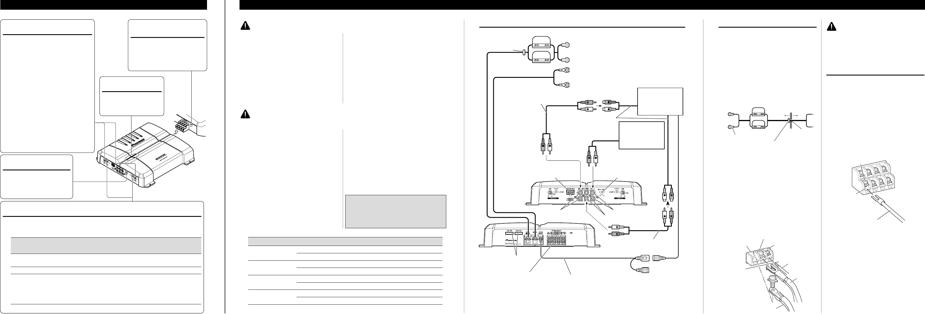 page 2 of pioneer car stereo system gm 6300f user guide connection diagram