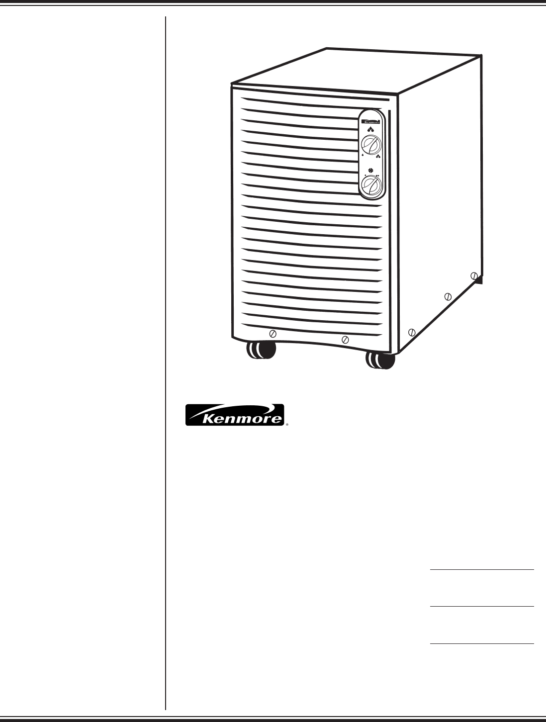 Kenmore Dehumidifier C675 25010 User Guide ManualsOnline.com #383637