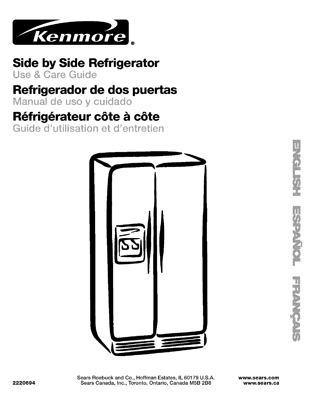 kenmore refrigerator 10653569200 user guide manualsonline com rh phone manualsonline com Kenmore Refrigerator Model 106 kenmore elite refrigerator user manual