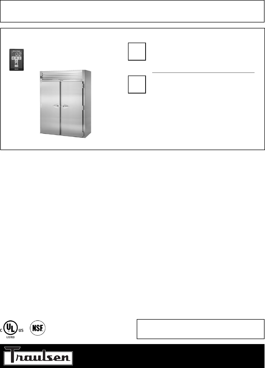 Traulsen freezer rif232hut fhs user guide manualsonline traulsen rif232hut fhs freezer user manual cheapraybanclubmaster Image collections