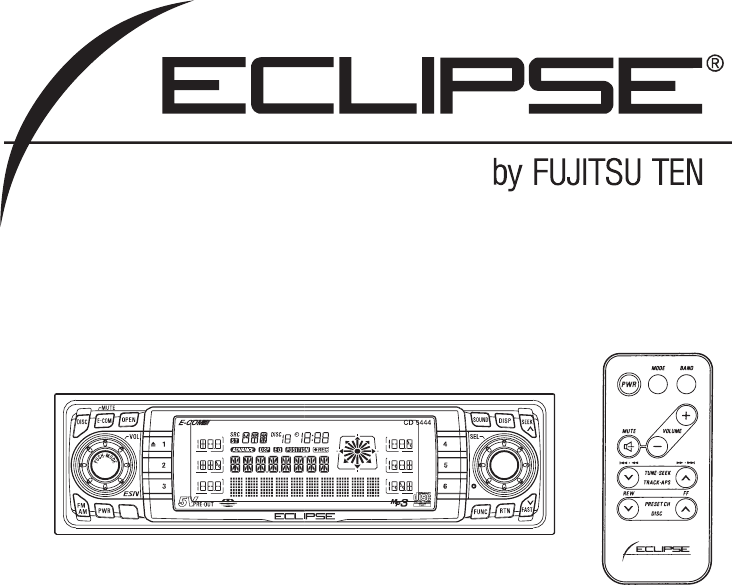 Eclipse fujitsu ten car stereo system cd5444 user guide eclipse fujitsu ten car stereo system cd5444 user guide manualsonline asfbconference2016 Choice Image