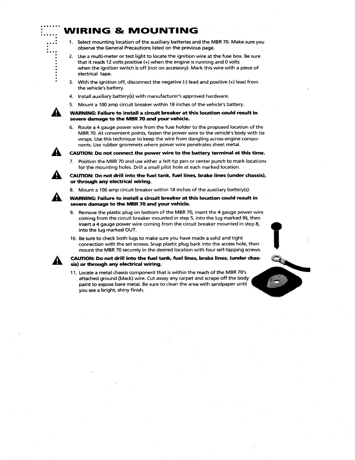 Page 6 of Orion Car Audio Automobile Battery Charger MBR70 User ...