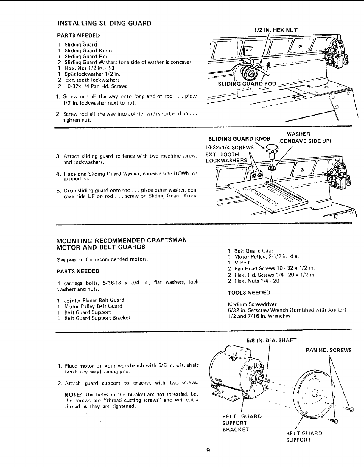 page 9 of sears planer 113 20680 user guide manualsonline com rh powertool manualsonline com Delta Planers Manuals De Walt Thickness Planer Manual