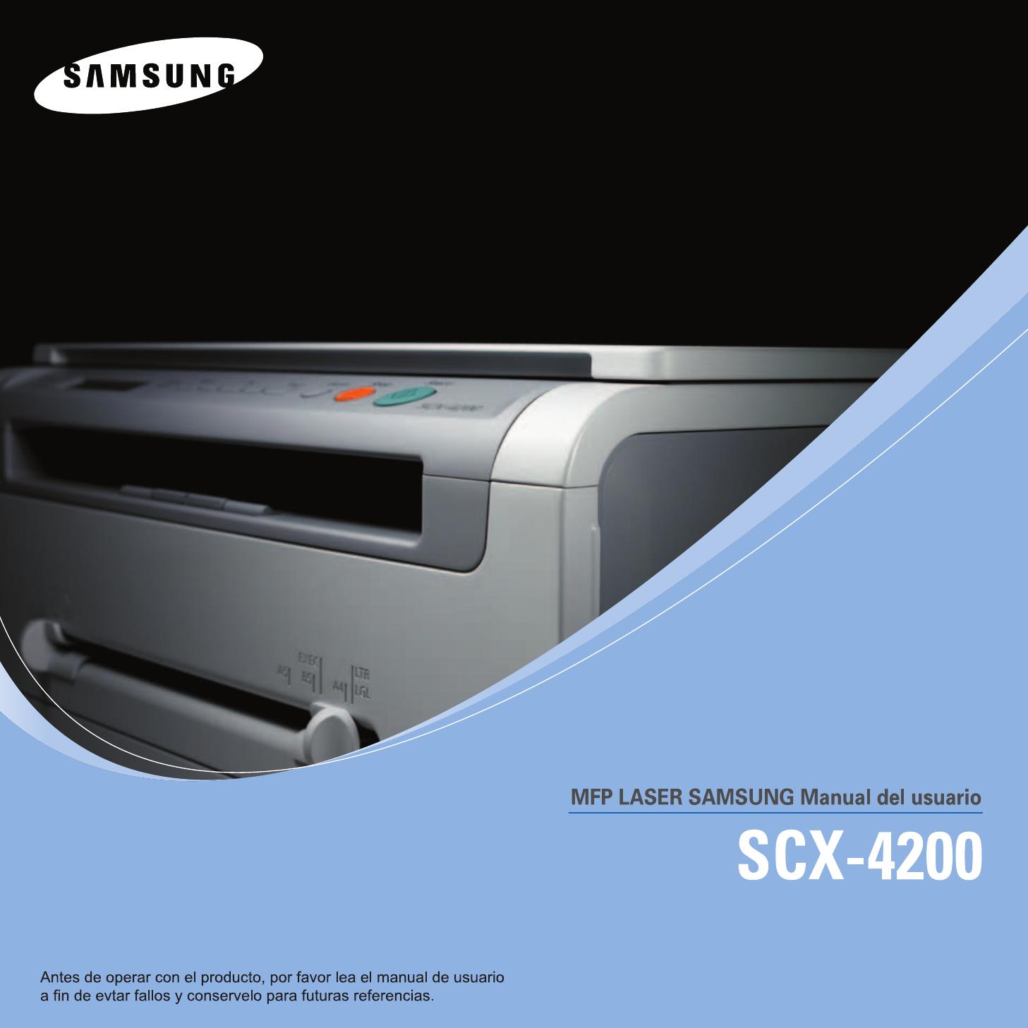 Инструкция сканер scx 4200