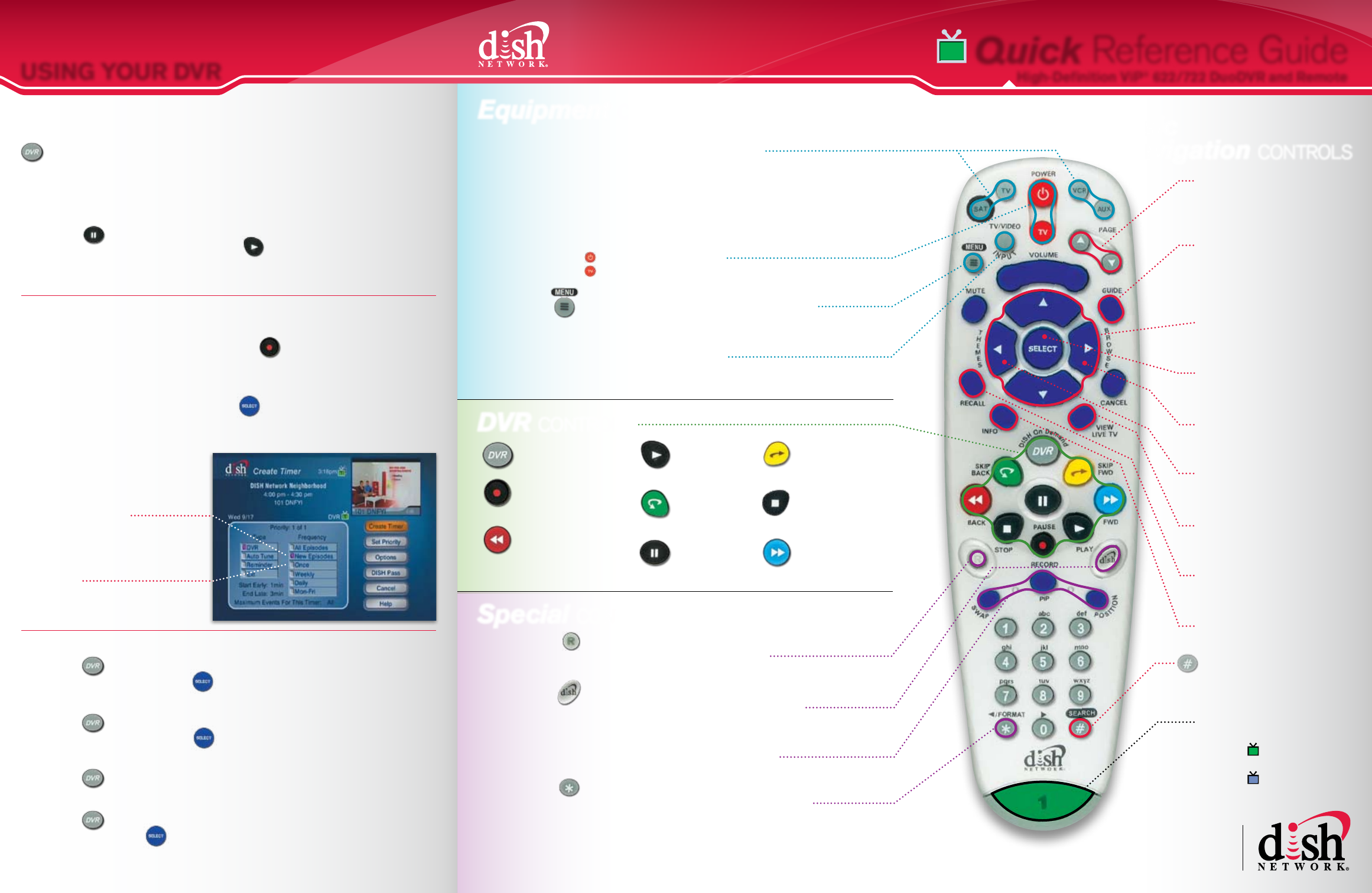 how to set dish network remote to tv