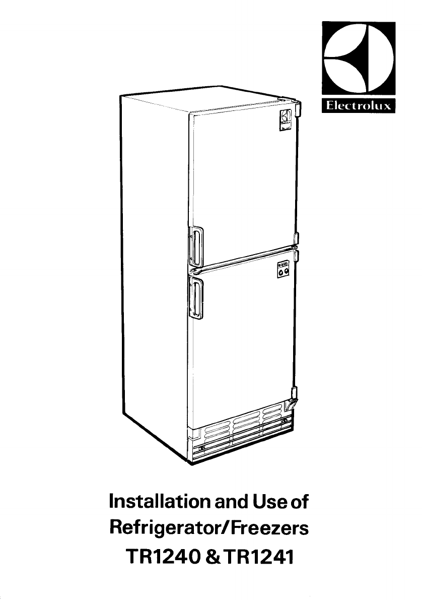 electrolux refrigerator tr1241 user guide manualsonline com rh kitchen manualsonline com Operators Manual Manuals in PDF