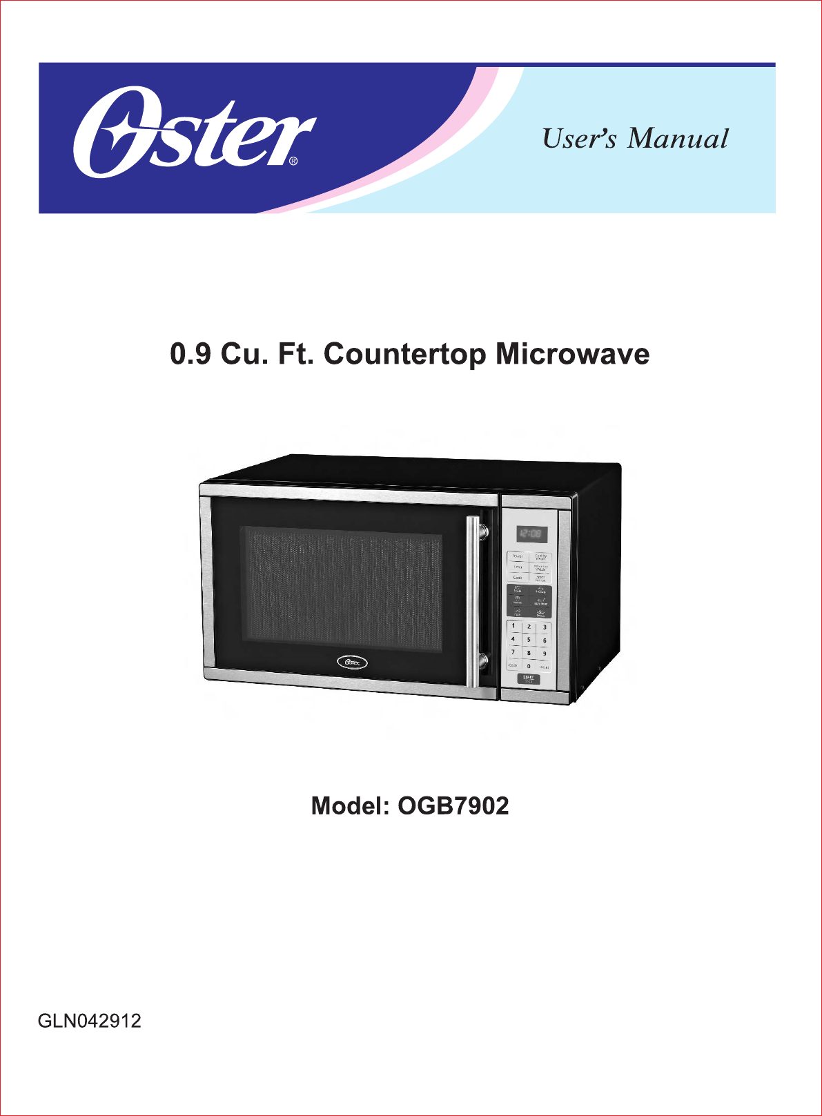 oster microwave oven ogb7902 user guide manualsonline com rh kitchen manualsonline com oster microwave owners manual oster microwave owners manual