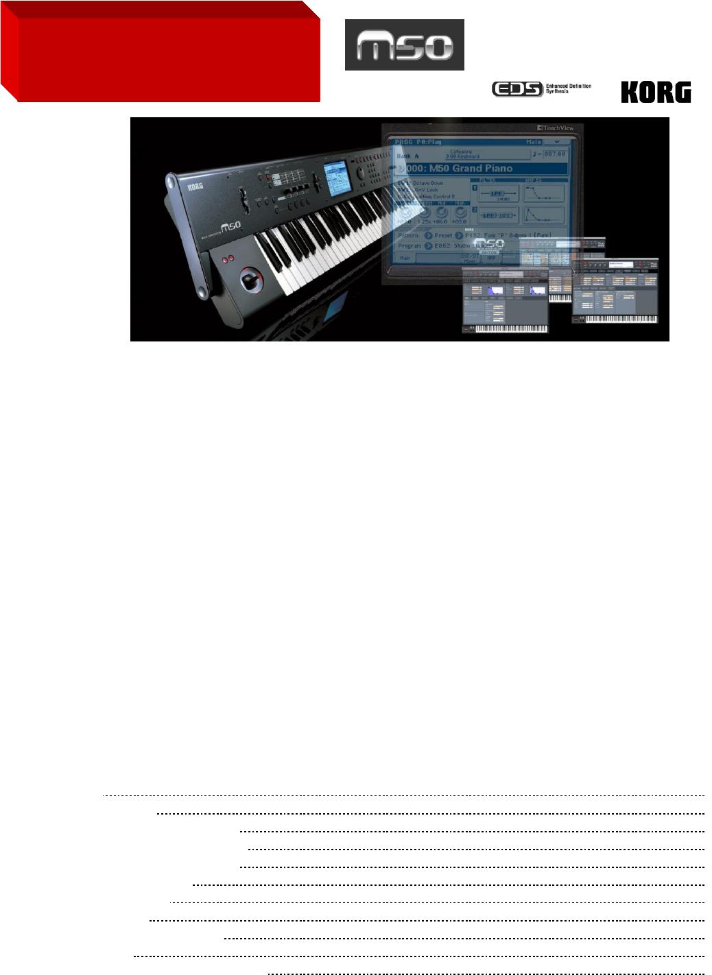 korg electronic keyboard m50 user guide manualsonline com rh music manualsonline com Korg M3 Black Korg Krome