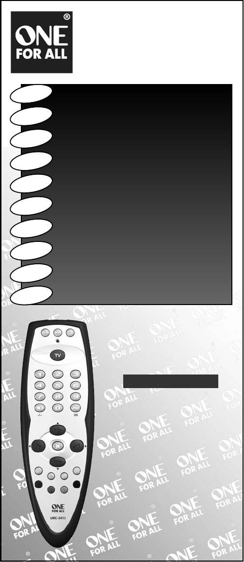 One For All Universal Remote Urc 3415 User Guide Manualsonline