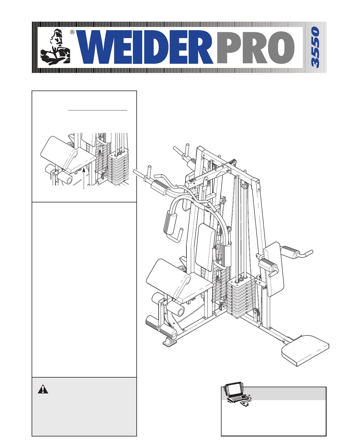 Weider home gym wesy user guide manualsonline