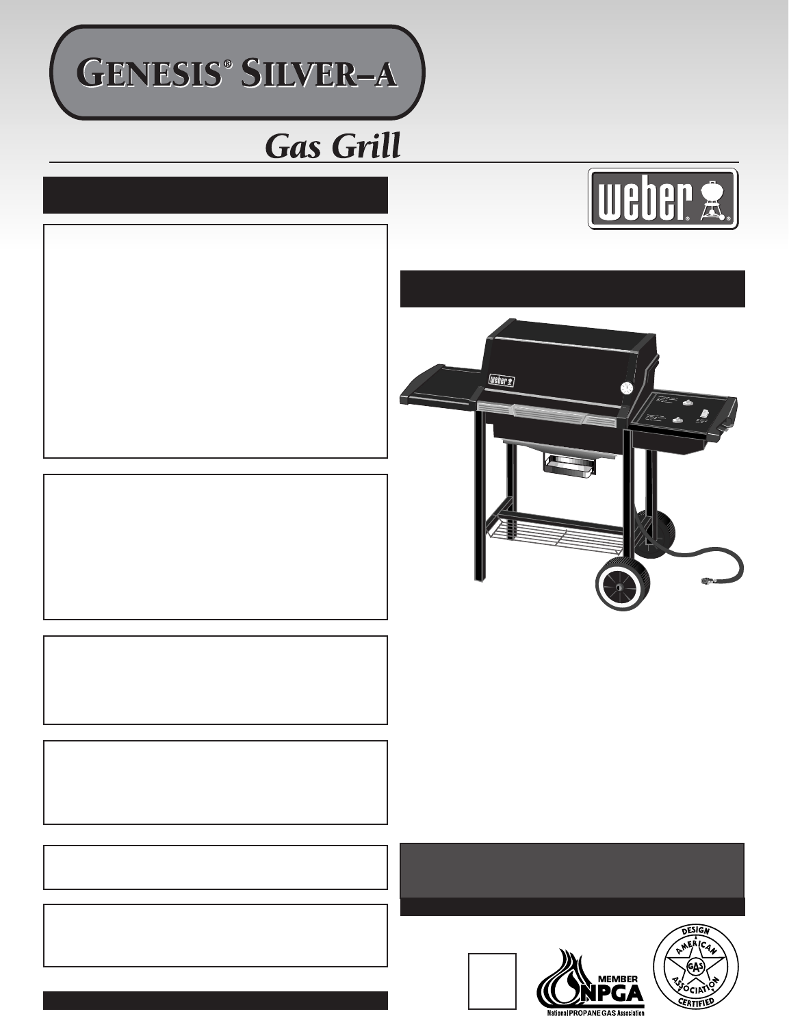 weber gas grill silver a user guide. Black Bedroom Furniture Sets. Home Design Ideas