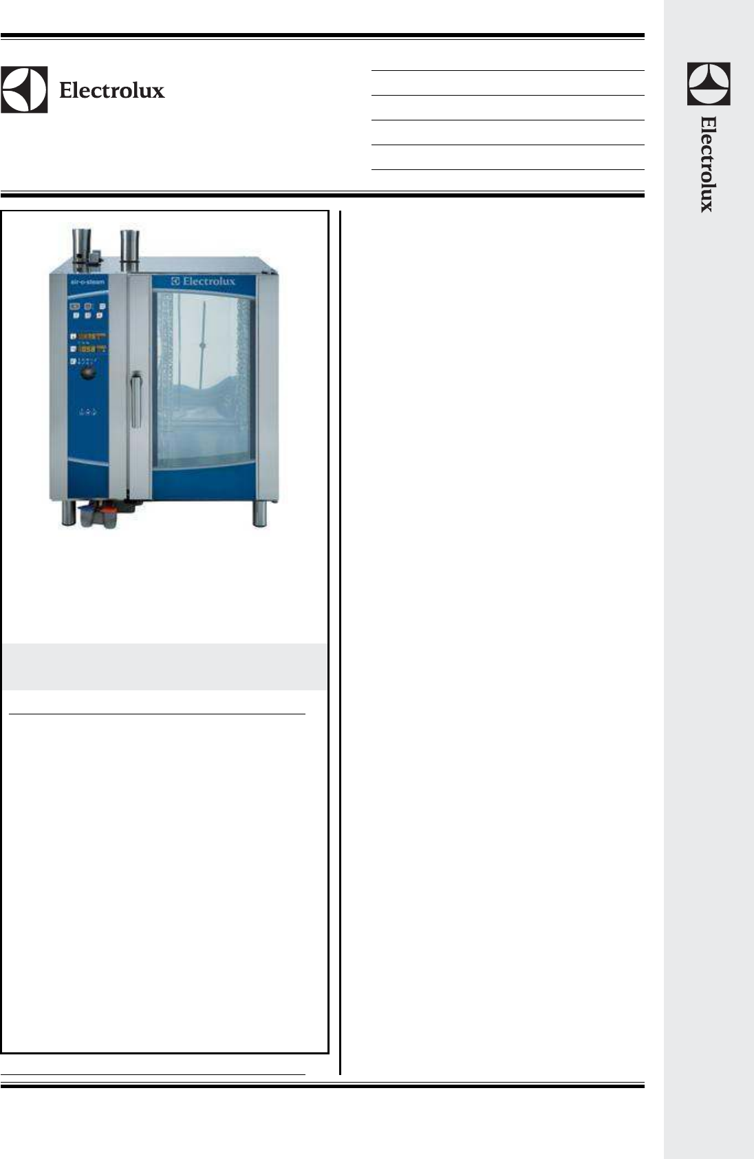 Electrolux Oven 101 User Guide