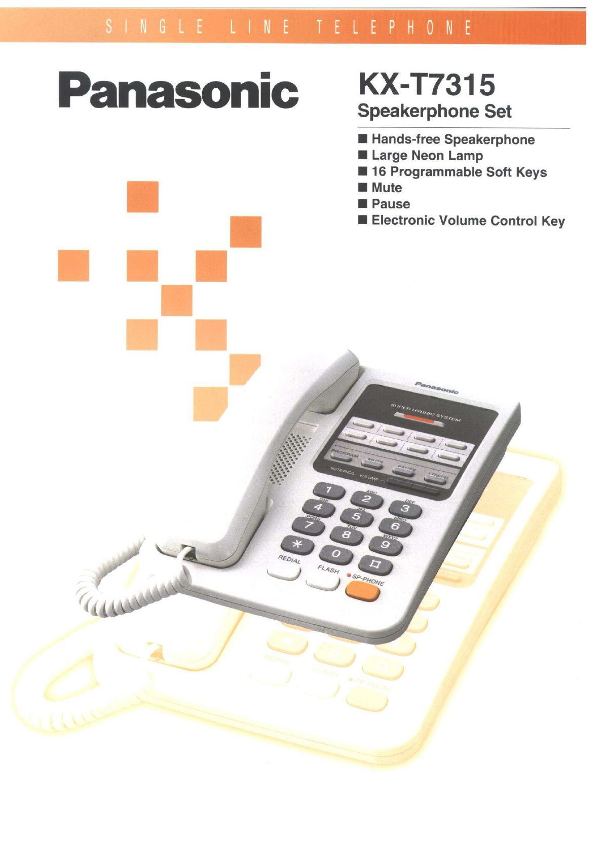 panasonic conference phone kx t7315 user guide manualsonline com rh phone manualsonline com panasonic kx-tga20 user manual panasonic kx-t7705 user manual