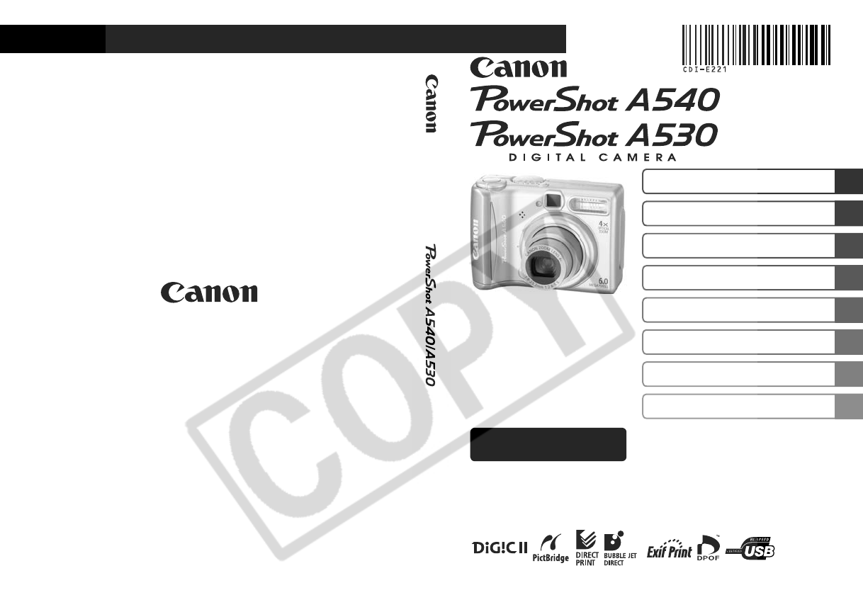 canon digital camera powershot a540 user guide manualsonline com rh tv manualsonline com Canon Sd1300is Canon PowerShot